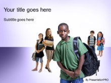 PowerPoint Templates - back for school purple