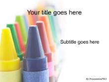 PowerPoint Templates - Crayons 02
