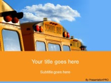 PowerPoint Templates - School Buses