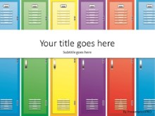 School Lockers PPT PowerPoint Template Background