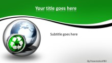 Globe Icon Recycle 2 Widescreen PPT PowerPoint Template Background