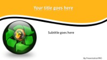 Globe Icon Recycle 3 Widescreen PPT PowerPoint Template Background