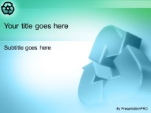 Download recycler blue PowerPoint Template and other software plugins for Microsoft PowerPoint