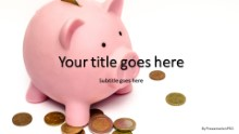 PowerPoint Templates - Piggy Bank Coins