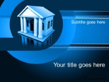Download banking blue PowerPoint Template and other software plugins for Microsoft PowerPoint