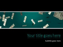 Falling Money PPT PowerPoint Template Background