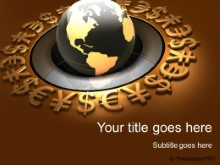 Download world currency globe gold PowerPoint Template and other software plugins for Microsoft PowerPoint