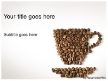 Download coffee bean cup PowerPoint Template and other software plugins for Microsoft PowerPoint