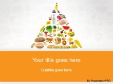 Download food pyramid orange PowerPoint Template and other software plugins for Microsoft PowerPoint