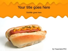 Download single hotdog PowerPoint Template and other software plugins for Microsoft PowerPoint