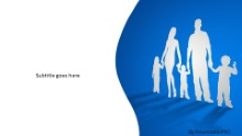 Cutout family Widescreen PPT PowerPoint Template Background