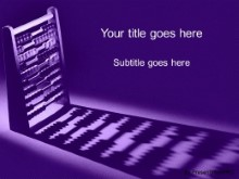 PowerPoint Templates - Add It Up Purple