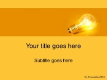 Download bulb orange PowerPoint Template and other software plugins for Microsoft PowerPoint