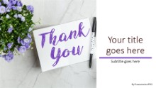 Thank You Card n Flowers Widescreen