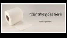 Toliet Paper Widescreen PPT PowerPoint Template Background