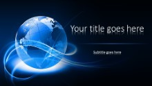 Abstract Globe Widescreen PPT PowerPoint Template Background