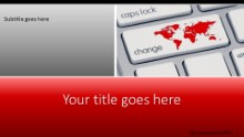 Change The World Keyboard Widescreen PPT PowerPoint Template Background