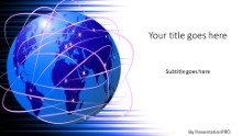 Global Communications Widescreen PPT PowerPoint Template Background