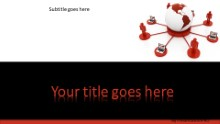 Global Computer Network Red Widescreen PPT PowerPoint Template Background