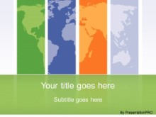Download global regions green PowerPoint Template and other software plugins for Microsoft PowerPoint
