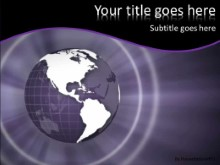 Purple World PPT PowerPoint Template Background