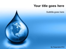 Download waterdrop globe blue PowerPoint Template and other software plugins for Microsoft PowerPoint
