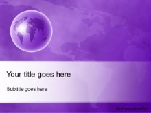 Download world perspective purple PowerPoint Template and other software plugins for Microsoft PowerPoint