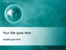 Download world perspective teal PowerPoint Template and other software plugins for Microsoft PowerPoint