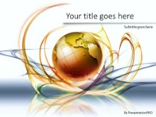 Global Swirls A PPT PowerPoint Template Background