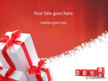 2015 Presents PPT PowerPoint Template Background
