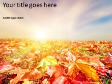 Autumn Landscape PPT PowerPoint Template Background