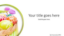 Easter Egg Basket Widescreen PPT PowerPoint Template Background