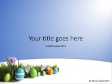 Easter Eggs In Grass PPT PowerPoint Template Background