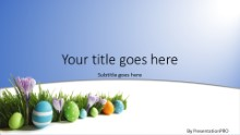 Easter Eggs In Grass Widescreen PPT PowerPoint Template Background