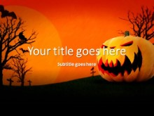Halloween Pumpkin PPT PowerPoint Template Background