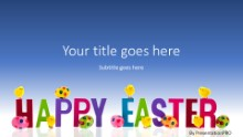 Happy Easter Hatchings Widescreen PPT PowerPoint Template Background
