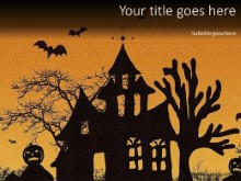 Haunted House PPT PowerPoint Template Background