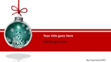 Holiday Glass Ornament Widescreen PPT PowerPoint Template Background