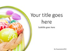Easter Egg Basket PPT PowerPoint Template Background