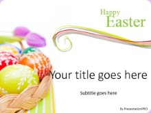 Easter Egg Basket B PPT PowerPoint Template Background
