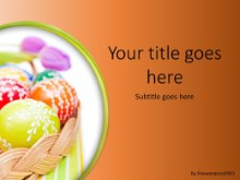 Easter Egg Basket Orange PPT PowerPoint Template Background