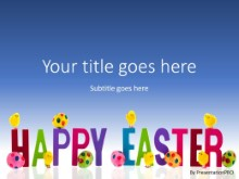 Happy Easter Hatchings PPT PowerPoint Template Background