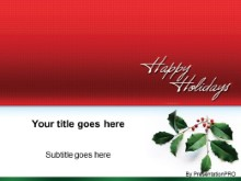 Download happy hollydays PowerPoint Template and other software plugins for Microsoft PowerPoint