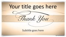 Thank You 2 Tan Widescreen PPT PowerPoint Template Background