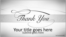 Thank You Gray Widescreen PPT PowerPoint Template Background