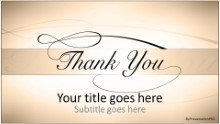Thank You Tan Widescreen PPT PowerPoint Template Background