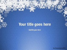 Winter Snow Blue PPT PowerPoint Template Background