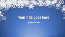 Winter Snow Blue Widescreen PPT PowerPoint Template Background