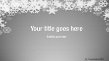 Winter Snow Gray Widescreen PPT PowerPoint Template Background