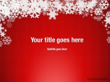 Winter Snow Red PPT PowerPoint Template Background
